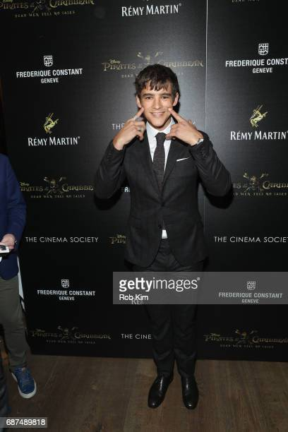 Brenton Thwaites attends the screening for 'Pirates of The Caribbean Dead Men Tell No Tales' presented by Remy Martin at the Crosby Street Hotel on...