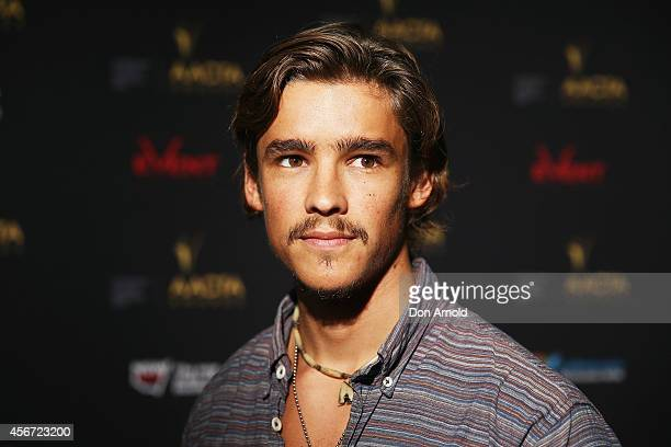 Brenton Thwaites poses at the 4th ACCTA Awards opening night at Event Cinemas Bondi Junction on October 6 2014 in Sydney Australia
