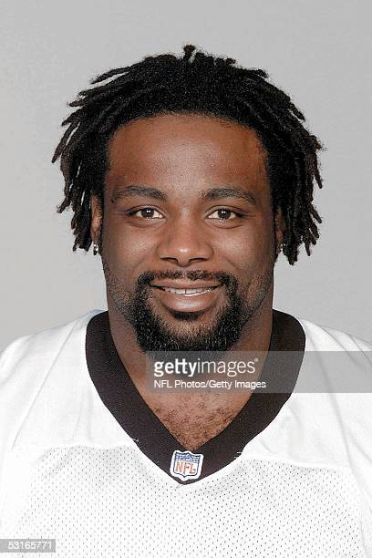 Brentson Buckner of the Carolina Panthers poses for his 2005 NFL headshot at photo day in Charlotte North Carolina