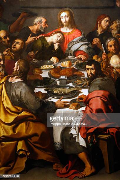 brera gallery, milan. the last supper. daniele crespi, 1629/30. - last stock pictures, royalty-free photos & images