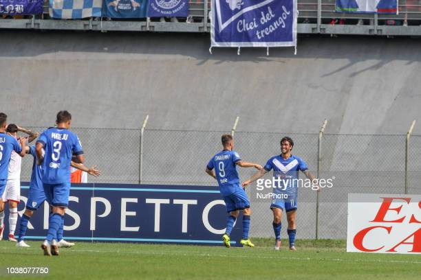 Brescia Calcio during the Serie B match between Carpi and Brescia FC at Stadio Cabassi on September 22 2018 in Verona Italy