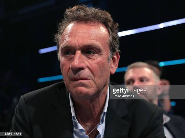 Brescia Calcio President Massimo Cellino looks on during the Serie A 2019/2020 fixture unveiling on July 29 2019 in Milan Italy