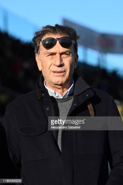 Brescia Calcio President Massimo Cellino looks on during the Serie A match between Parma Calcio and Brescia Calcio at Stadio Ennio Tardini on...