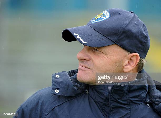 Brescia head coach Giuseppe Iachini looks on during the Serie A match between Brescia Calcio and Udinese Calcio at Mario Rigamonti Stadium on October...
