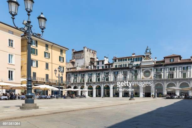 Brescia - panorama of Piazza della Loggia square
