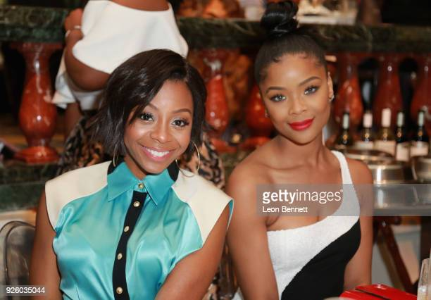 Bresha Webb and Ajiona Alexus onstage during the 2018 Essence Black Women In Hollywood Oscars Luncheon at Regent Beverly Wilshire Hotel on March 1...