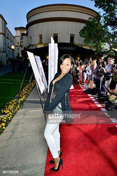 Bresha Webb arrives at the Premiere of Lifetime Television's 'Return To Zero' at Paramount Theater on the Paramount Studios lot on May 1 2014 in...