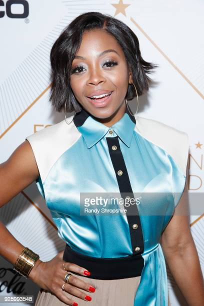 Bresha Webb attends the 2018 Essence Black Women In Hollywood Oscars Luncheon at Regent Beverly Wilshire Hotel on March 1 2018 in Beverly Hills...