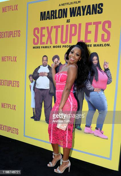 Bresha Webb attends the Netflix World Premiere Of 'SEXTUPLETS' at The Arclight Hollywood on August 07 2019 in Hollywood California