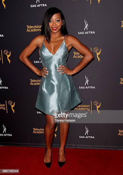 Bresha Webb attends the Television Academy and SAGAFTRA's 4th annual Dynamic and Diverse Celebration at Saban Media Center on August 24 2016 in North...