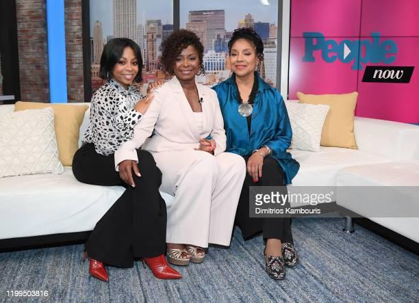 Bresha Webb Crystal Fox Phylicia Rasha visit People Now on January 14 2020 in New York United States