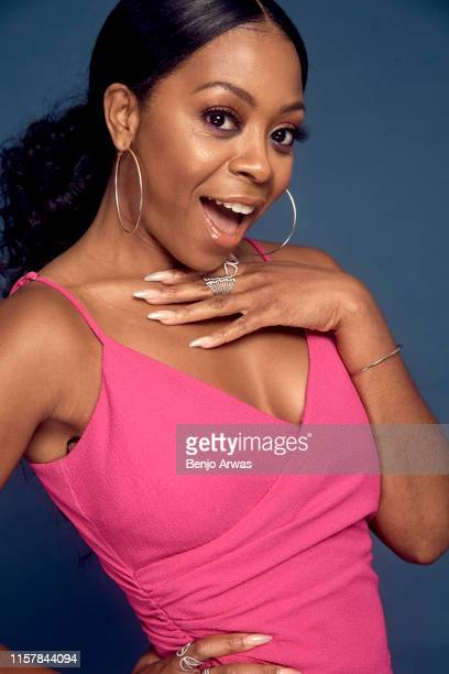 Bresha Webb of IFC's 'Sherman's Showcase' poses for a portrait during the 2019 Summer Television Critics Association Press Tour at The Beverly Hilton...
