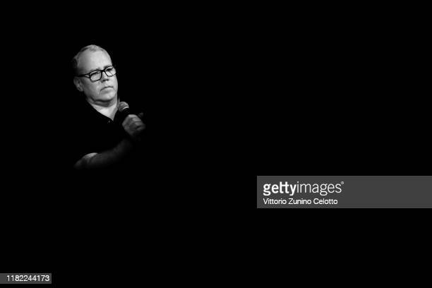 Bret Easton Ellis attends the masterclass during the 14th Rome Film Festival on October 20 2019 in Rome Italy