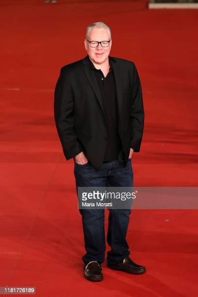 Bret Easton Ellis attends the Motherless Brooklyn red carpet during the 14th Rome Film Festival on October 17 2019 in Rome Italy