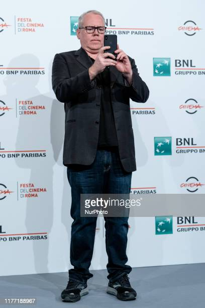 Bret Easton Ellis attends the photocall during the 14th Rome Film Fest at Auditorium Parco Della Musica on 20 October 2019