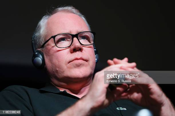 Bret Easton Ellis attends the press conference during the 14th Rome Film Festival on October 20 2019 in Rome Italy