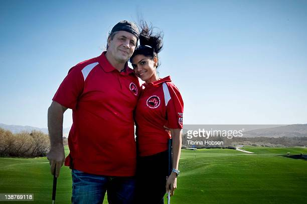 Bret Hart and Sheila Shah attend the 2nd Canada California business council celebrity golf classic at Desert Dunes Golf Club on February 11 2012 in...
