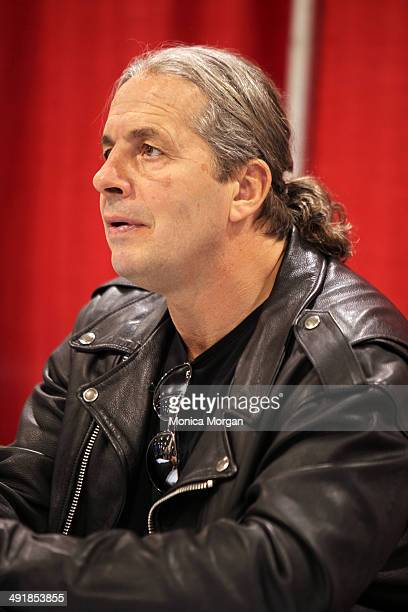 Bret Hart attends the 2014 Motor City Comic Con at Suburban Collection Showplace on May 17 2014 in Novi Michigan