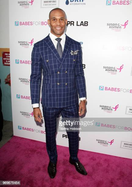 Bret Lockett attends the Babes for Boobs live auction benefiting Susan G Komen LA at El Rey Theatre on June 7 2018 in Los Angeles California