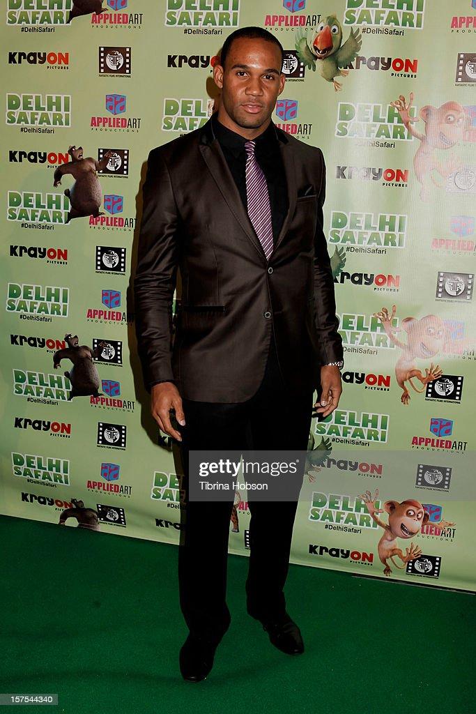Bret Lockett attends the Delhi Safari Los Angeles premiere at Pacific Theatre at The Grove on December 3, 2012 in Los Angeles, California.