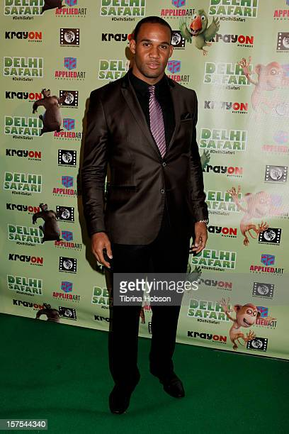 Bret Lockett attends the Delhi Safari Los Angeles premiere at Pacific Theatre at The Grove on December 3 2012 in Los Angeles California