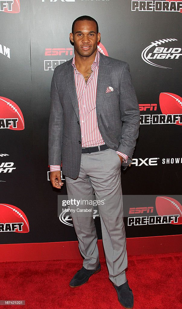 Bret Lockett attends the ESPN The Magazine 10th annual Pre-Draft Party at The IAC Building on April 24, 2013 in New York City.