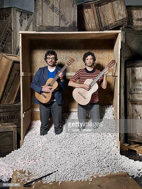 Bret McKenzie and Jemaine Clement of Flight of the Conchords are photographed for Maxim Magazine in 2008