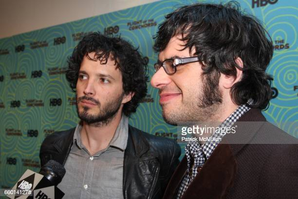 Bret McKenzie and Jermaine Clement attend HBO Hosts a the 2nd Season Viewing Party of FLIGHT OF THE CONCHORDS at Angel and Orensanz Foundation on...