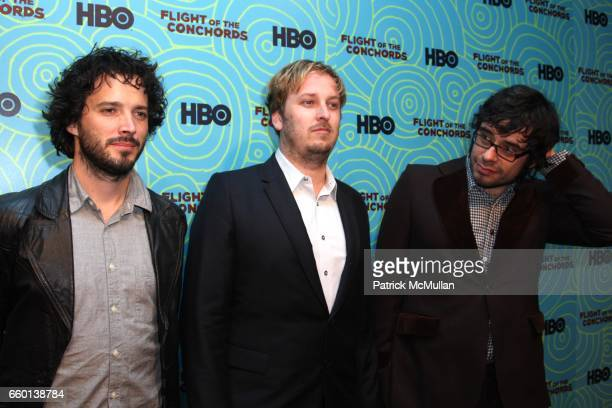 Bret McKenzie James Bobin and Jermaine Clement attend HBO Hosts a the 2nd Season Viewing Party of FLIGHT OF THE CONCHORDS at Angel and Orensanz...