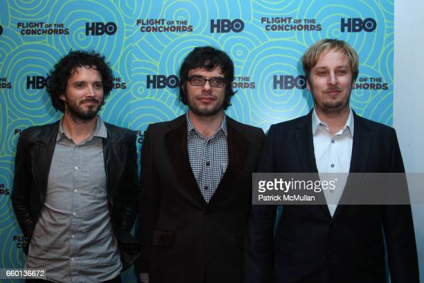 Bret McKenzie Jermaine Clement and James Bobin attend HBO Hosts a the 2nd Season Viewing Party of FLIGHT OF THE CONCHORDS at Angel and Orensanz...