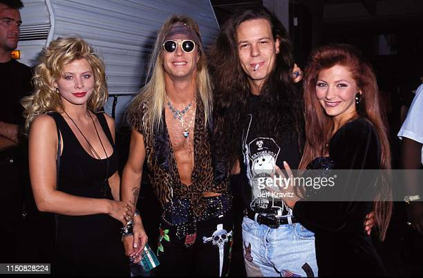 Bret Michaels And Bobby Dall at the 1990 MTV Video Music Awards at in Los Angeles, California.