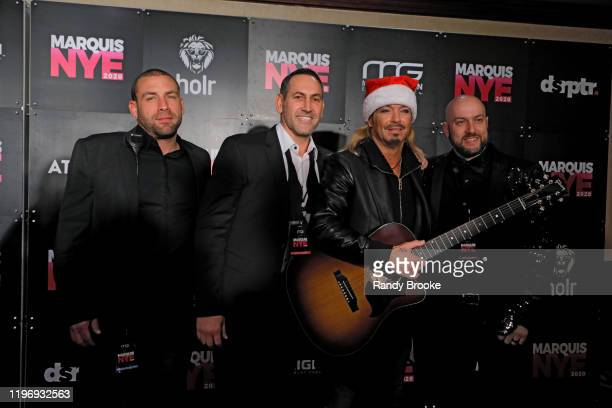 Bret Michaels and guests attend Marquis NYE 2020 at The New York Marriott Marquis on December 31 2019 in New York City