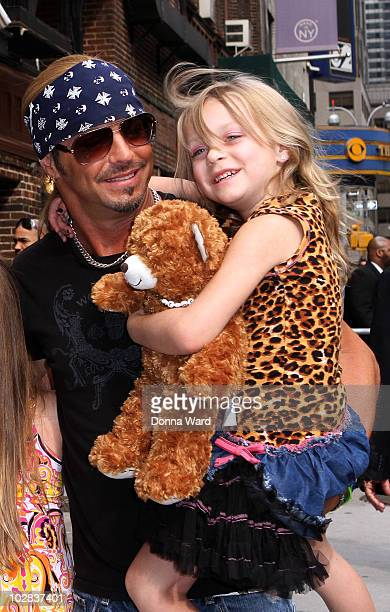 Bret Michaels and Jorja Bleu Sychak visit Late Show With David Letterman at the Ed Sullivan Theater on July 12 2010 in New York City