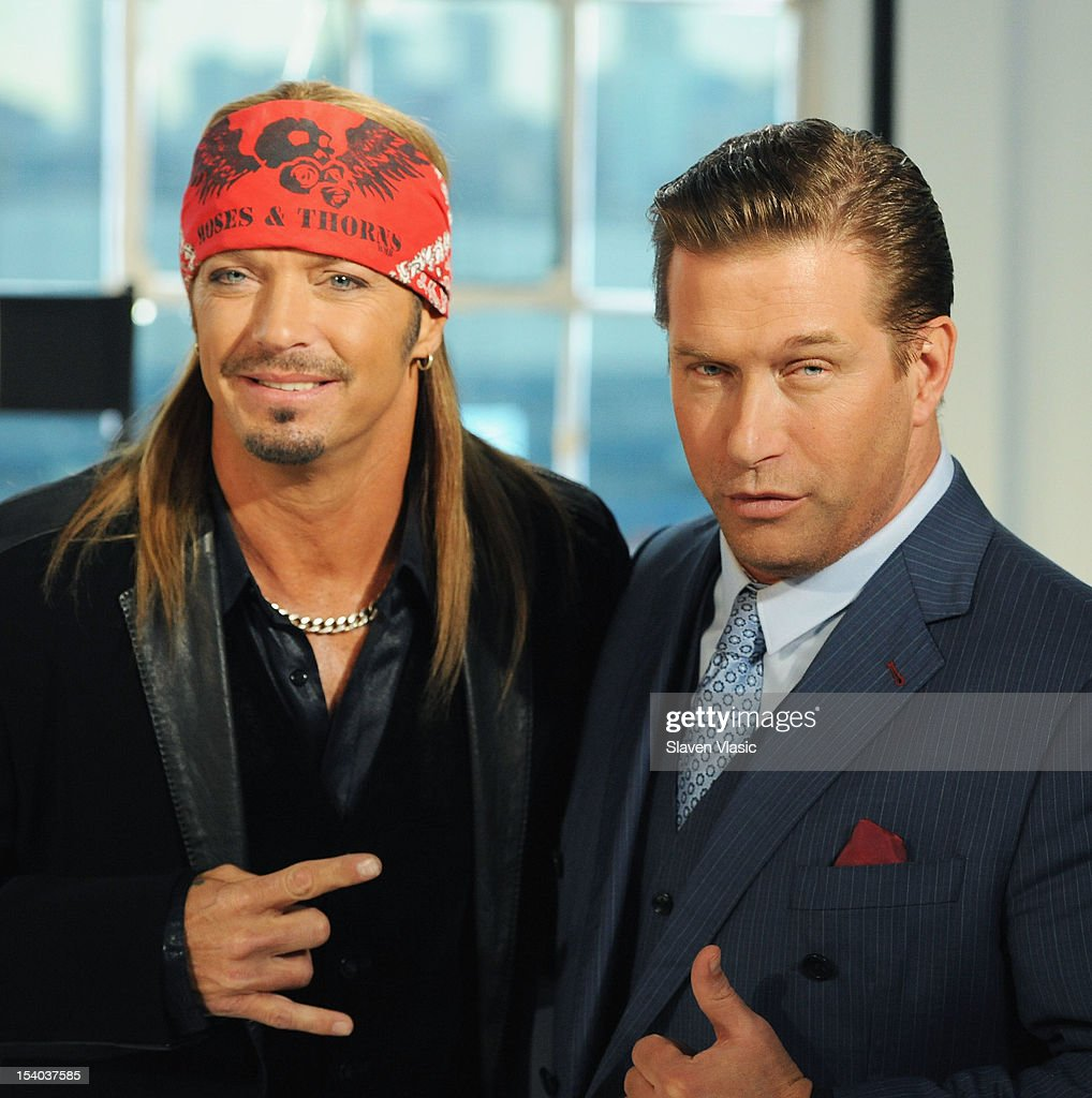 Bret Michaels and Stephen Baldwin attend the 'Celebrity Apprentice All Stars' Season 13 Press Conference at Jack Studios on October 12, 2012 in New York City.