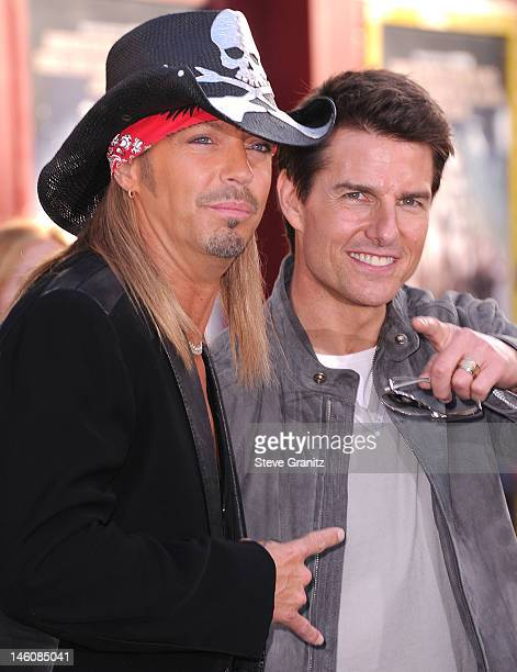 Bret Michaels and Tom Cruise arrives at the Rock Of Ages Los Angeles Premiere at Grauman's Chinese Theatre on June 8 2012 in Hollywood California