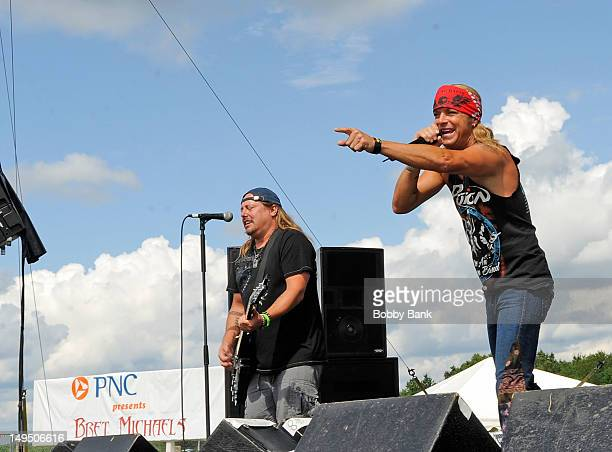 Bret Michaels attends the 30th annual Quick Chek New Jersey Festival of Ballooning at Solberg Airport on July 29 2012 in Readington New Jersey