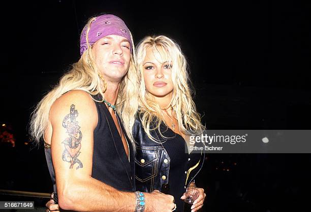 Bret Michaels of Poison and Pamela Anderson at Webster Hall New York October 8 1994