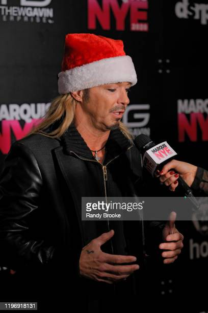 Bret Michaels of Poison is interviewed during Marquis NYE 2020 at The New York Marriott Marquis on December 31 2019 in New York City