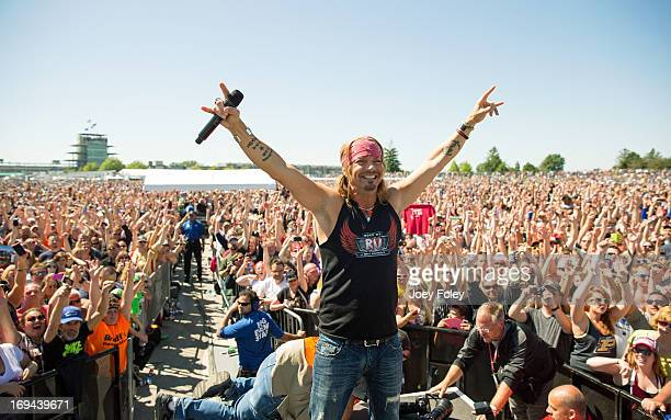 Bret Michaels of Poison performs onstage during the 2013 Indy 500 Miller Lite Carb Day concert on May 24 2013 in Indianapolis Indiana