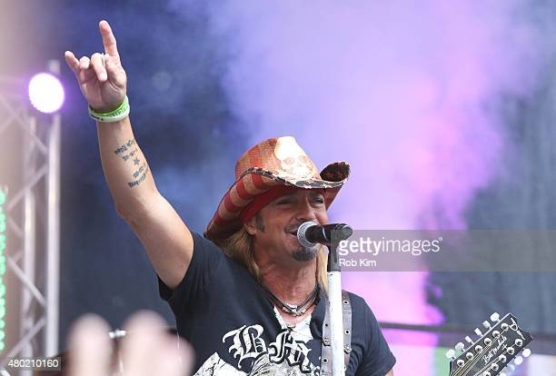 Bret Michaels performs at FOX Friends All American Concert Series outside of FOX Studios on July 10 2015 in New York City