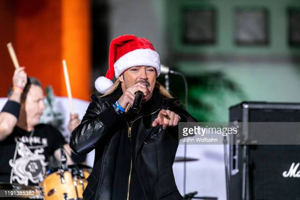 Bret Michaels performs at the 88th Annual Hollywood Christmas Parade on December 01 2019 in Hollywood California