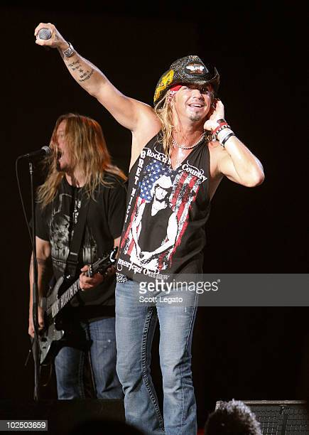 Bret Michaels performs at the Verizon Wireless Music Center on June 27 2010 in Noblesville Indiana