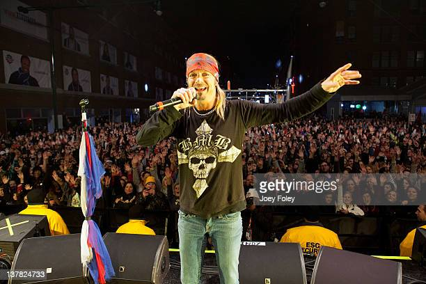 Bret Michaels performs during day 1 of the Super Bowl Village on January 27 2012 in Indianapolis Indiana