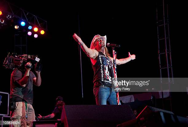 Bret Michaels performs onstage while being filmed for the new Vh1 reality TV series 'Bret Michaels Life As I Know It' during the 15th Annual Rib...