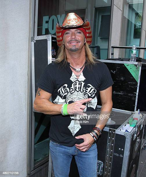 Bret Michaels poses backstage at FOX Friends All American Concert Series outside of FOX Studios on July 10 2015 in New York City