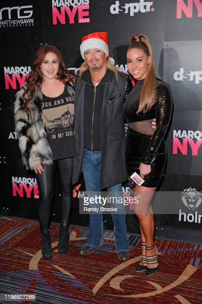 Bret Michaels Tiffany and Alyse Zwick attend Marquis NYE 2020 at The New York Marriott Marquis on December 31 2019 in New York City