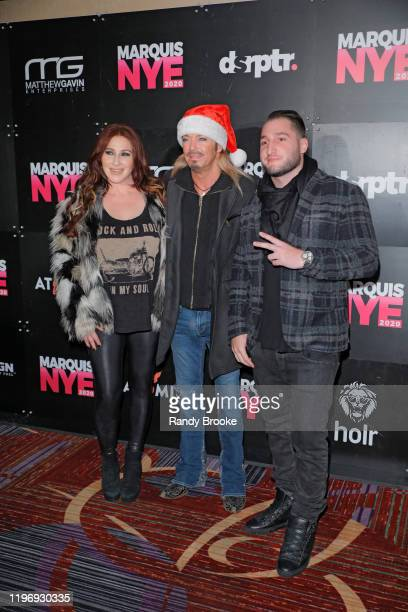 Bret Michaels Tiffany and Josh Stone attend Marquis NYE 2020 at The New York Marriott Marquis on December 31 2019 in New York City