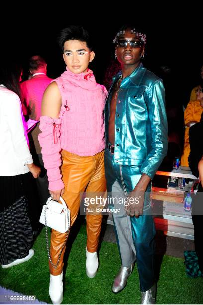 Bretman Rock and Rickey Thompson attend Brandon Maxwell during New York Fashion Week The Shows on September 07 2019 in New York City