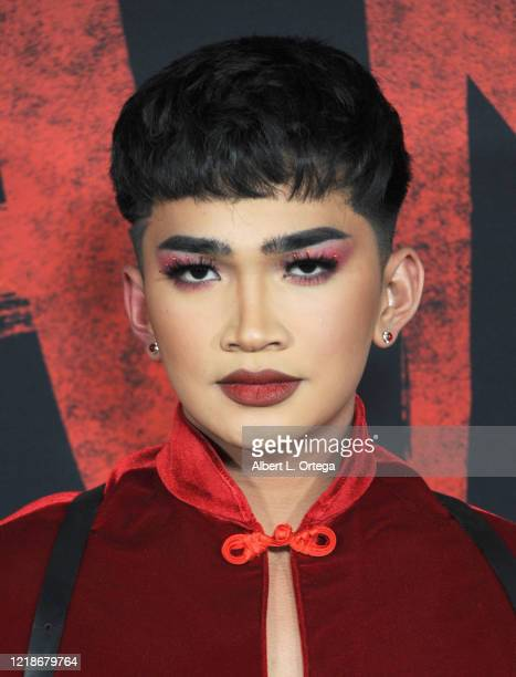 Bretman Rock arrives for the Premiere Of Disney's Mulan held at Dolby Theatre on March 9 2020 in Hollywood California
