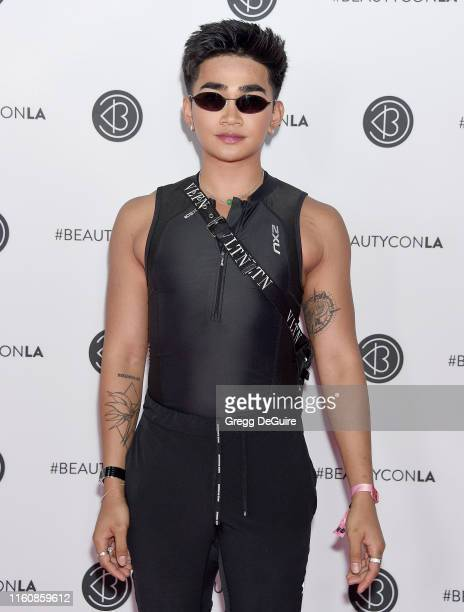 Bretman Rock attends Beautycon Los Angeles 2019 Pink Carpet at Los Angeles Convention Center on August 10 2019 in Los Angeles California